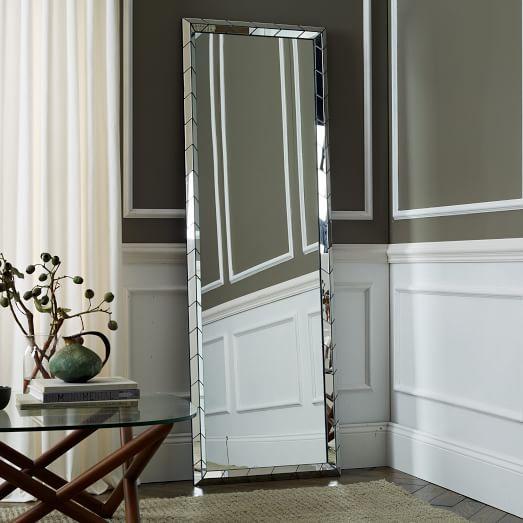 Chevron Tile Floor Mirrors, Larger Tiles, 24