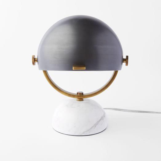 Half-Round Mini Task Lamp, Bronze