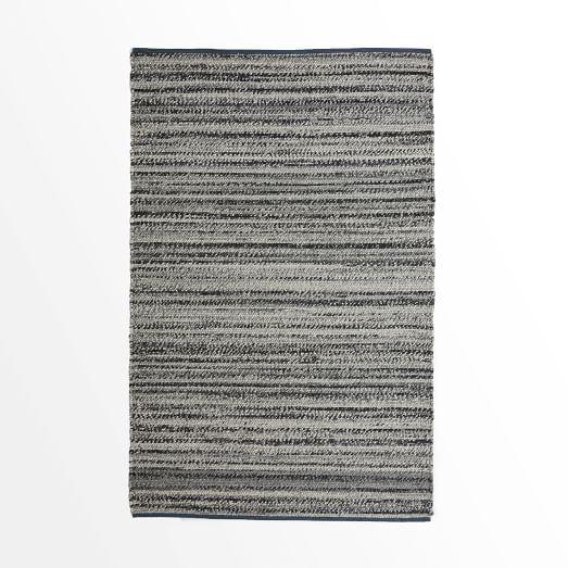 Steven Alan Tweed Wool Rug, 3'x5, Heather Gray