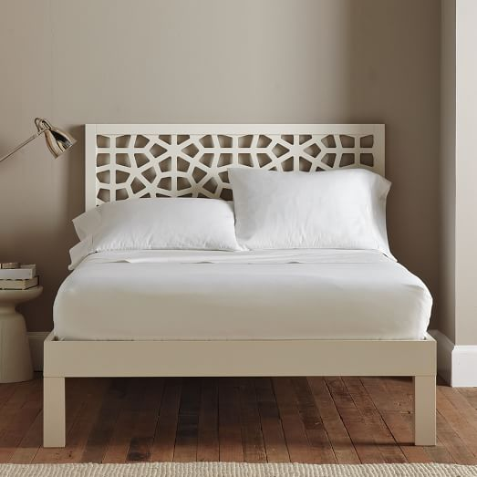 tall wood bed frame cal king white lacquer