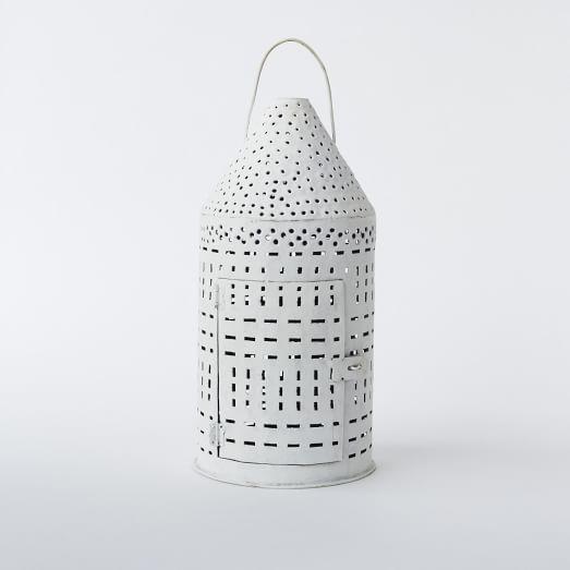 Recycled Metal Lanterns, Cone