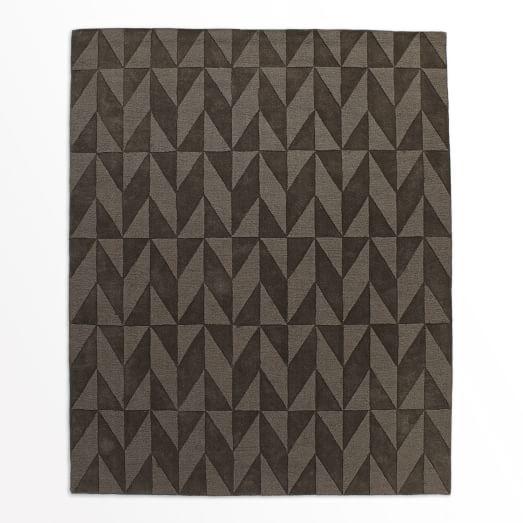 Andes Wool Rug, Slate, 9'x12'
