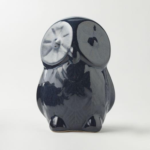 St. Jude Ceramic Owl, Large Blue