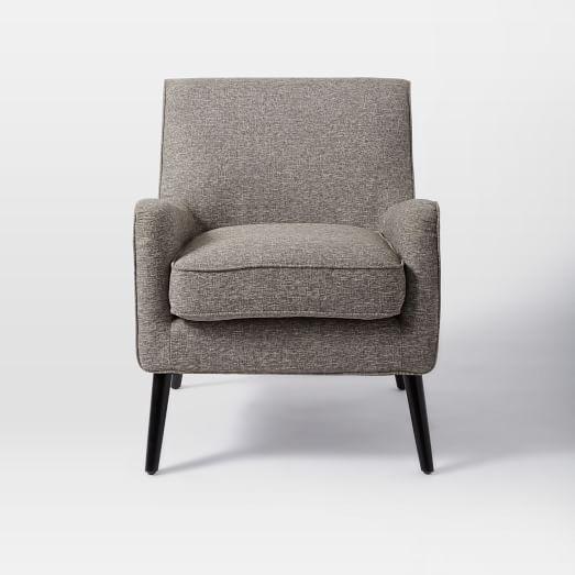 Book Nook Armchair, Retro Weave, Feather Gray
