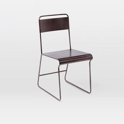 Bent Metal Dining Chair , Gunmetal