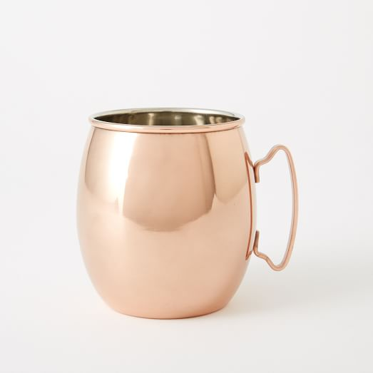 Moscow Mule Mug, Smooth Copper