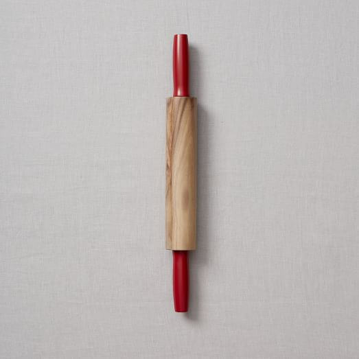 Baking Tools, Wooden Rolling Pin, Red