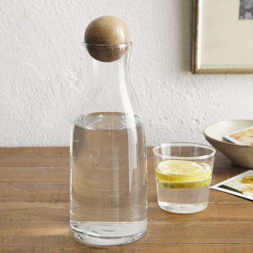 Wood Topped Water Bottle