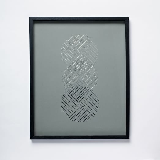 Geo Stitch Wall Art, Circles