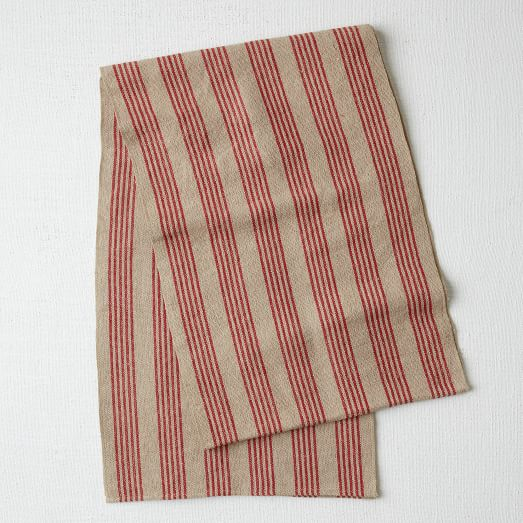 Cabin Stripe Runner, Market Red, 14