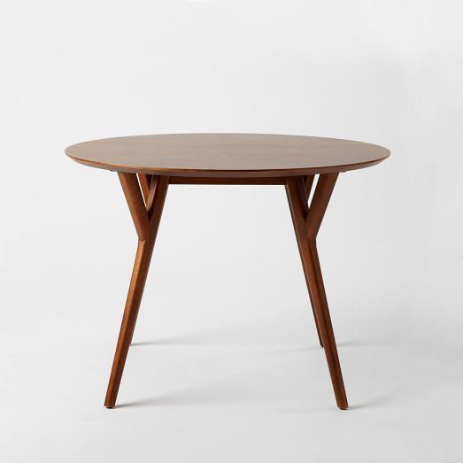 Mid-Century Round Dining Table, 44