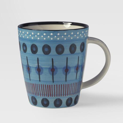 Potter's Workshop Mug, Blue Dash