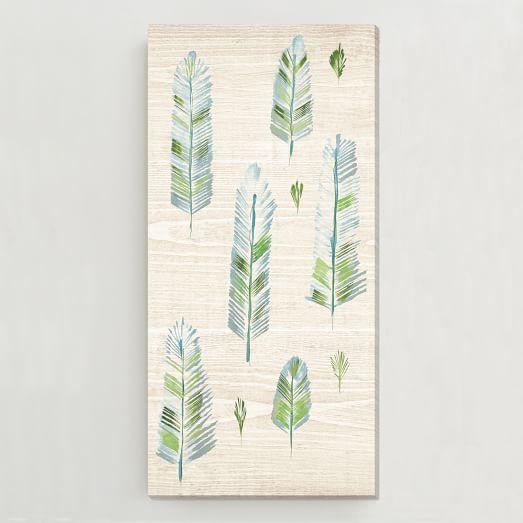 Birch Print, Feather Trees I