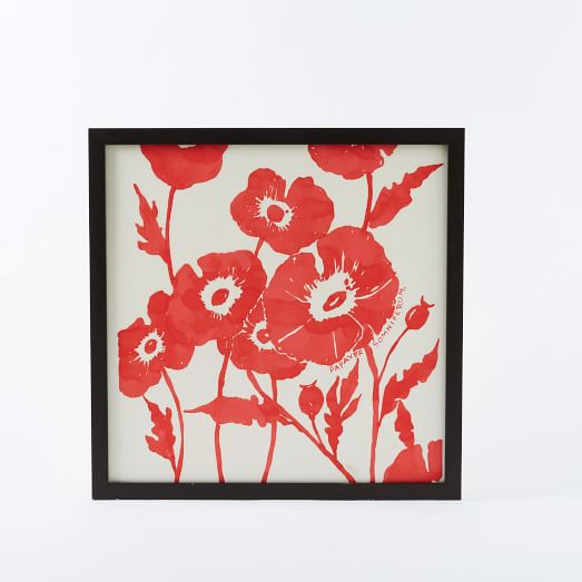 Floral Wall Art, Poppies