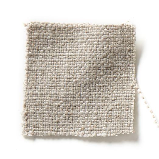"""Antwerp Slipcovered 89"""" Sofa, Linen Weave, Natural"""