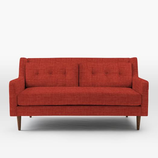 "Crosby 67"" Loveseat, Heathered Weave, Cayenne"