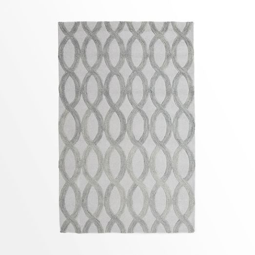 Linking Loops Rug, 3'x5', Frost Gray
