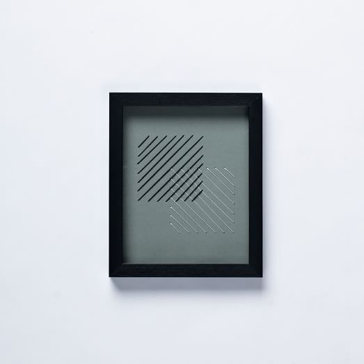 Geo Stitch Wall Art, Square