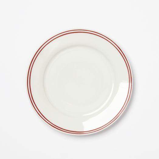 Market Red Stripe Dinnerware, Salad Plate