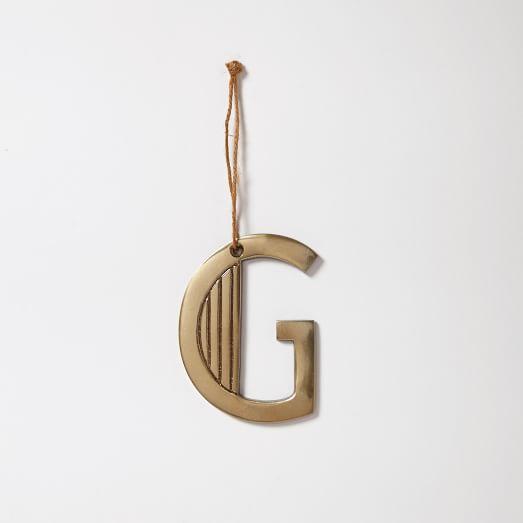 Deco Letter Ornament, G