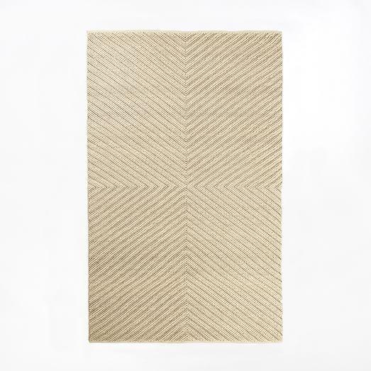 Chevron Knot Rug, 3'x5', Ivory