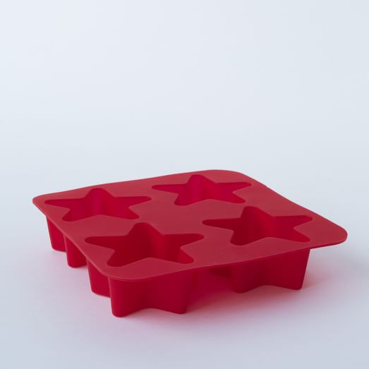 Silicone Ice Cube Tray, Star, Red
