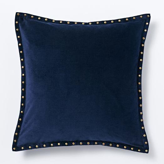 Studded Velvet Pillow Cover, 20
