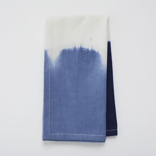 Double Dip Dye Napkins, Set of 4, Neptune Blue
