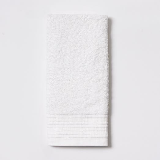 Organic Pleated Edge Hand Towel, 20