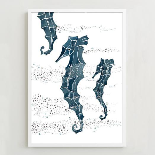 Framed Print, Seahorse
