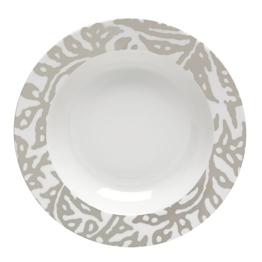 Block Print Dinnerware, Set of 4, Floral