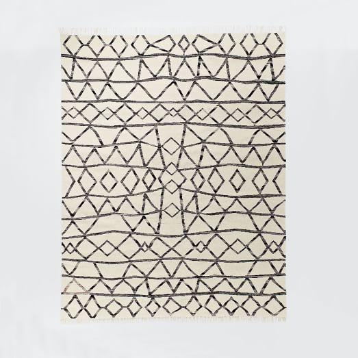 Torres Wool Kilim, 8'x10', Iron