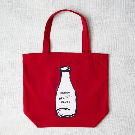 Market Tote Bag, Recycle Bottle