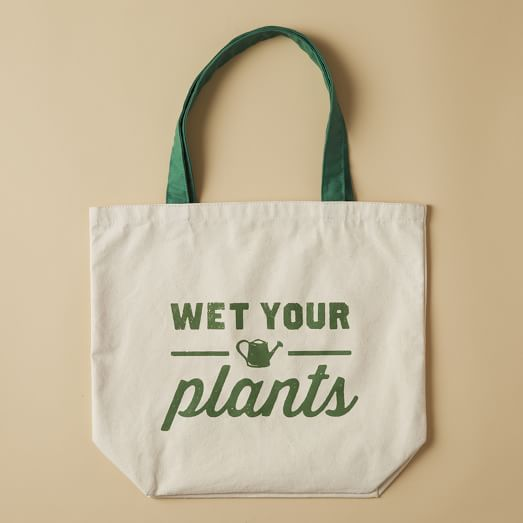 Market Tote Bag, Wet Your Plants