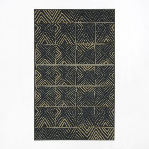 Zola Rug, 5'x8', Graphite