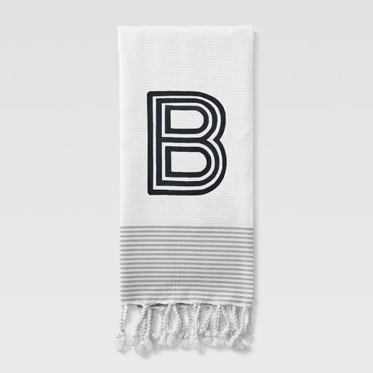 Striped Edge Hand Towel, 20