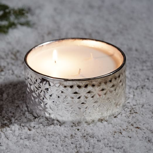 3 Wick Candle, Silver, Shimmering Balsam