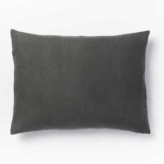 Belgian Linen Standard Sham, Slate