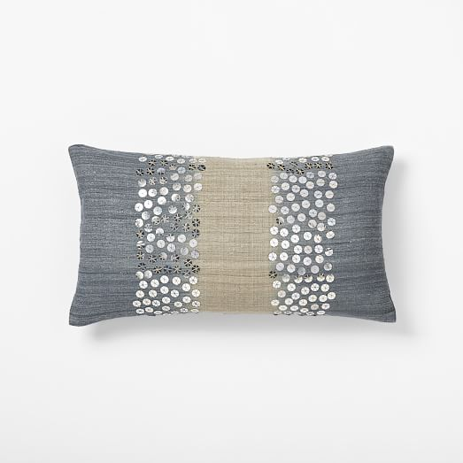 Sarah Campbell Embellished Ombre Pillow Cover,12