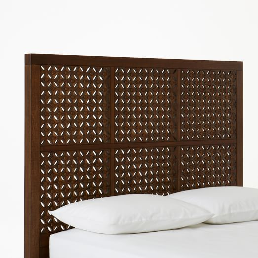 Carved Headboard, Twin, Cafe