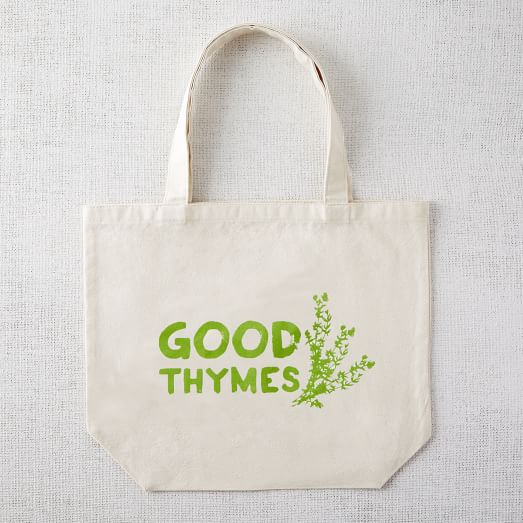 Market Tote Bag, Good Thymes