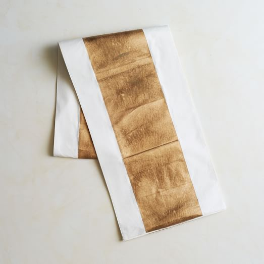 Painted Metallic, Table Runner, Gold