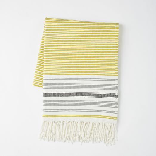 Tassled Picnic Blanket, Lemon Curry
