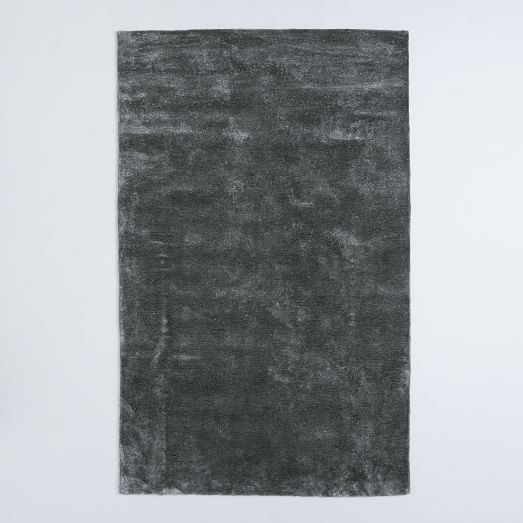 Watercolor Solid Rug, 5'x8', Slate