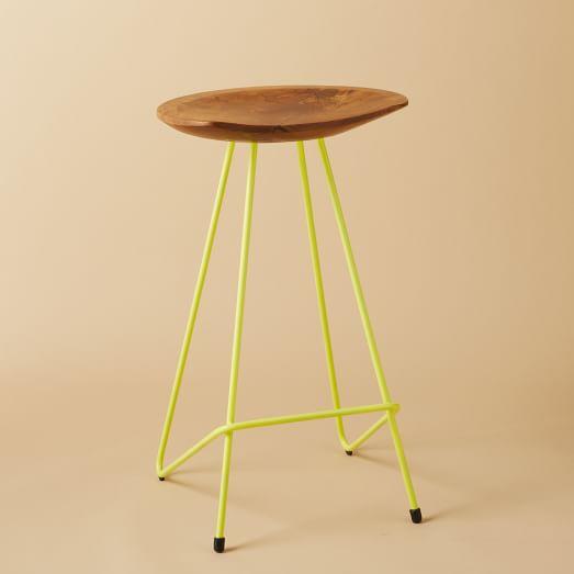 Perch Counter Stool, Yellow