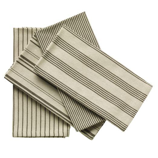 Yarn Dye Stripe Napkins, Set of 4, Iron