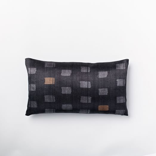 Silk Tiles Pillow Cover, Slate