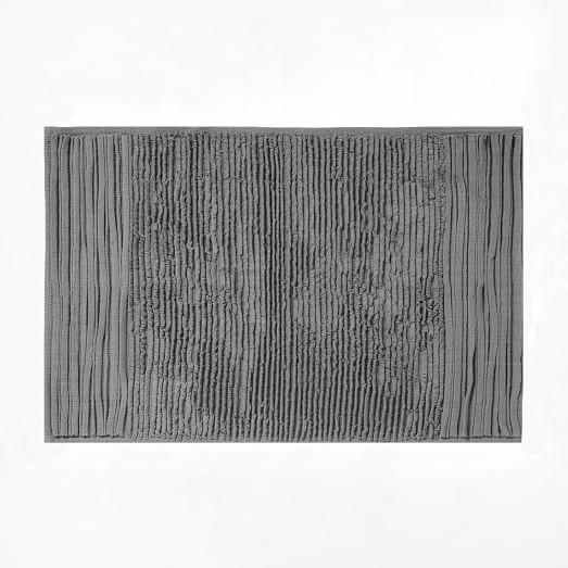Pleated Stripe Bath Mat, 20