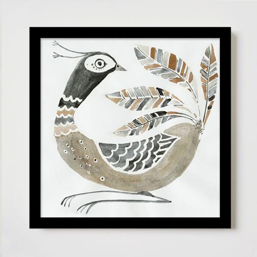 Framed Print, Chestnut Turkey