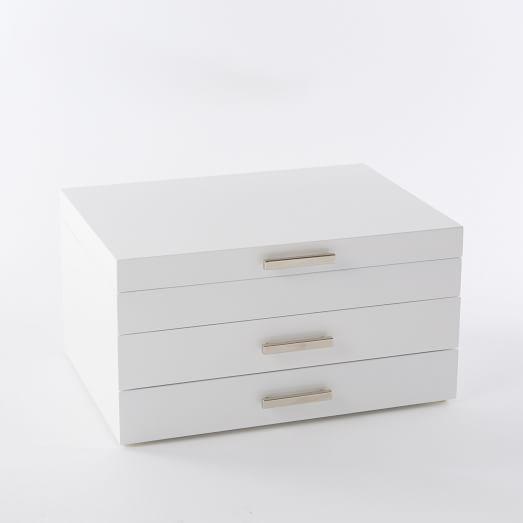Loft Box, Grand, White Gloss + Nickel